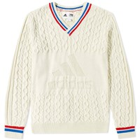 Adidas Consortium X Pharrell Williams Us Open Cable V Neck Knit White