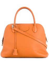 Hermes Vintage Bolide 31 2Way Tote Yellow And Orange