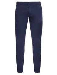 Orlebar Brown Campbell Cotton Blend Trousers Navy