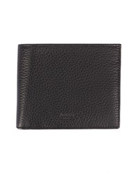 Armani Collezioni Black Grained Leather Wallet