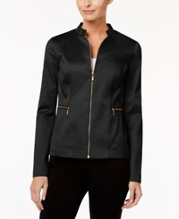 Charter Club Zip Front Jacket Only At Macy's Deep Black