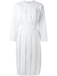 Comme Des Gara Ons Girl Pleated Midi Dress White