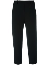 Ilaria Nistri Cropped Trousers Black