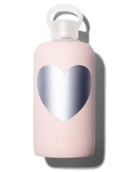 Bkr Silver Bougie Heart Water Bottle 24Oz. No Color