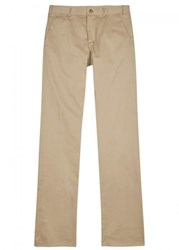 Private White V.C. Sand Tapered Cotton Chinos Tan