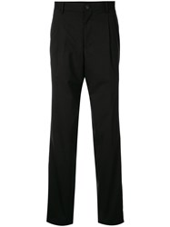 Kent And Curwen Inverted Pleat Tailored Trousers Black