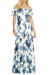After Six Women's Floral Chiffon Off The Shoulder Gown