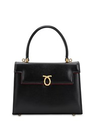 Launer Judy Smooth Leather Bag Black