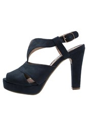 Xti Platform Sandals Navy Dark Blue