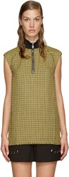 3.1 Phillip Lim Yellow Wool Houndstooth Vest