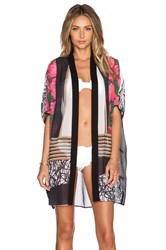 Clover Canyon Scribble Scarf Caftan Pink