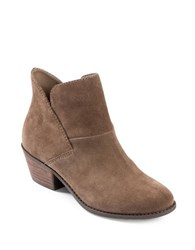 Me Too Suede Almond Toe Ankle Boots Nutmeg