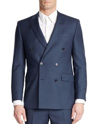 Tallia Orange Slim Fit Wool Blazer Blue
