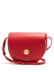 Mansur Gavriel Mini Saddle Leather Cross Body Bag Red