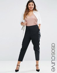 Asos Curve Skinny Fit Ankle Grazer Trouser Black