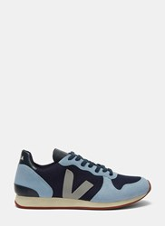 Veja Holiday Low Top Mesh And Suede Sneakers Blue