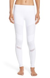 Alo Yoga Women's Moto Leggings White