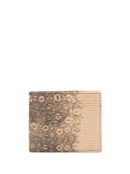 Etro Embossed Lizard Effect Wallet Brown
