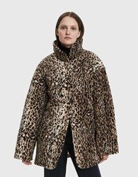 Collina Strada Shelter Faux Leopard Jacket Leopard Faux