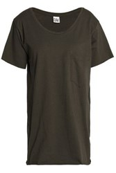 Oak Cotton Jersey T Shirt Dark Green