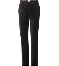 Shrimps Andre Velvet Straight Trousers Black