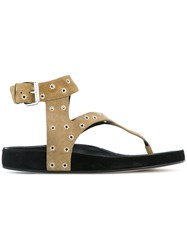 Etoile Isabel Marant Eyelet T Bar Sandals Green