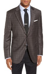 Peter Millar Men's Big And Tall Flynn Classic Fit Check Wool Sport Coat Brown