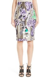 Versace Women's Collection Print Pencil Skirt
