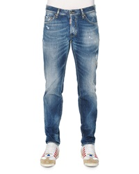 Dsquared Slim Fit Distressed Jeans Light Wash