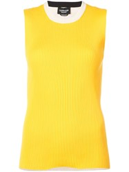 Calvin Klein 205W39nyc Ribbed Contrast Tank Top Yellow And Orange