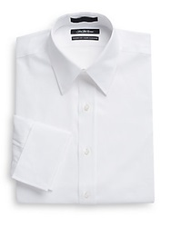 Saks Fifth Avenue Classic Fit French Cuff Cotton Dress Shirt