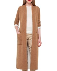 Akris Long Knit Reversible Car Coat Camel Moonstone Camel Moonstone