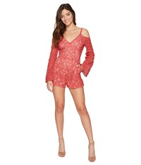 The Jetset Diaries Rava Lace Romper Apricot Women's Jumpsuit And Rompers One Piece Orange