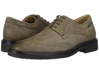 Mephisto Geffray Dark Taupe Washed Men's Lace Up Wing Tip Shoes