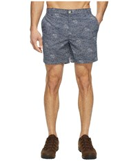 Columbia Super Bonehead Ii Shorts Collegiate Navy Triangle Palms Men's Shorts Gray