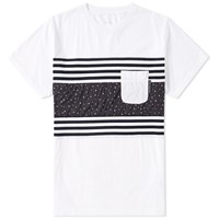 Uniform Experiment Fabric Mix Pocket Tee White
