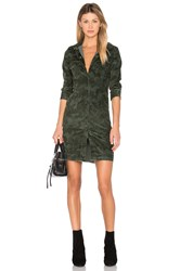 Etienne Marcel Button Up Mini Dress Olive
