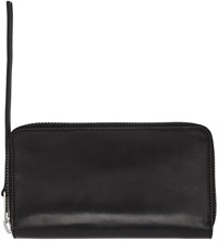 Rick Owens Black Medium Zippered Wallet
