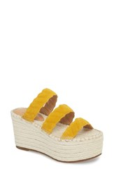 Marc Fisher Ltd Rosie Espadrille Platform Sandal Yellow Suede