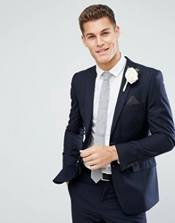 French Connection Skinny Wedding Suit Jacket In Navy