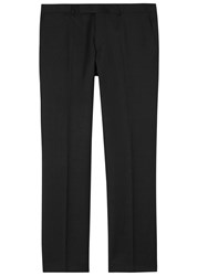 Oscar Jacobson Dave Black Slim Leg Wool Trousers
