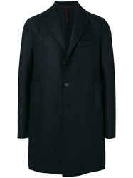 Harris Wharf London One Button Single Breasted Coat Blue