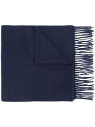 Mulberry Embroidered Logo Lambswool Scarf 60