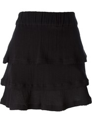 Iro Layered Mini Skirt Black