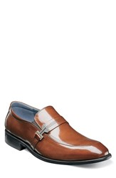 Stacy Adams Jonas Apron Toe Slip On Cognac Leather