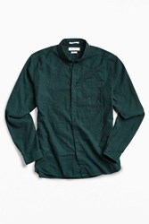 Urban Outfitters Uo Stevens Cross Dyed Button Down Shirt Green