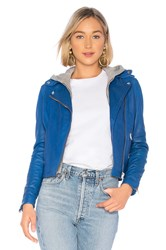 Lamarque Holy Leather Jacket Blue