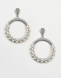 Missguided Studded Thread Wrap Detail Circle Earrings Multi
