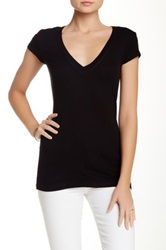 Heather By Bordeaux Ribbed Tee Black
