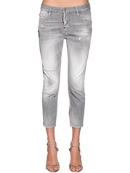 Dsquared Cool Girl Cropped Denim Jeans Grey